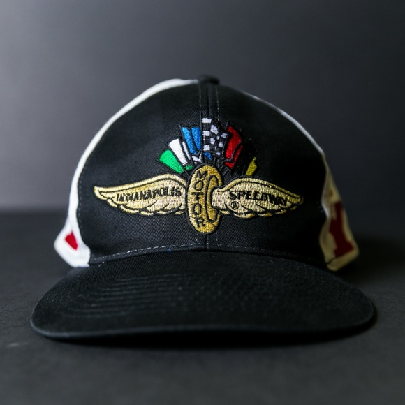 15bd982dd44be3 Vintage Accessories | Indy Indianapolis Speedway Racing Snapback ...